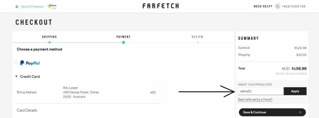 Farfetch Com Coupons Discount Code Promotional Code